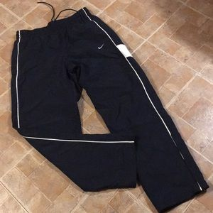 Nike mesh lined track pants size women's large